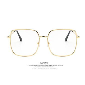 Eeygalsses vintage, cadre opticalsquare de grande taille surdimensionné et lunettes métalliques