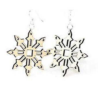Falling Snowflake Design Earrings