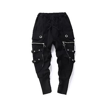 Fashion Drawstring Casual Men High Quality Joggers Black Sweatpants Hip Hop