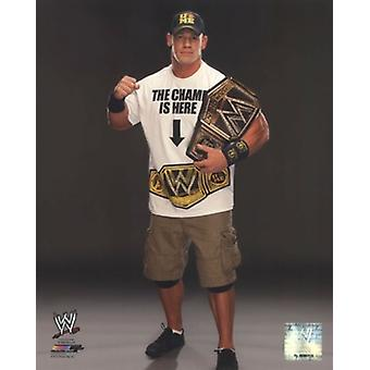 John Cena with the WWE Championship Belt 2013 Posed Sports Photo (8 x 10)