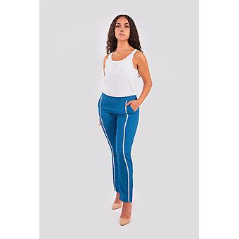 Fayza women's tailored trousers in blue