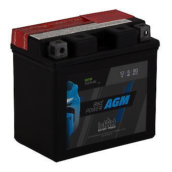 intAct YTZ7S-BS Maintenance Free AGM Bike-Power Battery