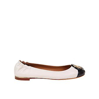 Tory Burch 81724100 Women's White Leather Flats