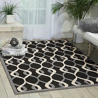 Decor mattor Der04 av Nourison i svart