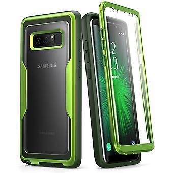 i--Blason Galaxy Note 8 Case Magma Series Full body Bumper-MetallicGreen