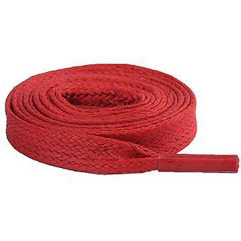 أحمر شقة القطن مشمع أربطة الأحذية الأربطة