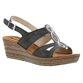Inblu inlet womens ladies wedge sandals  UK Size