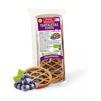 Spelled Tartlets with Blueberries Eco 4 units of 50g