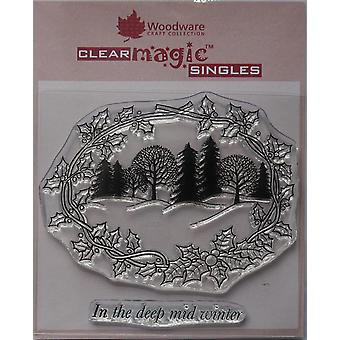 Woodware Clear Singles Winter Wonderland 4 x 6 in Leima