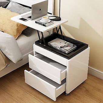 Table de chevet de levage multifonfonpite Petit bureau d'ordinateur Armoire simple chambre à coucher