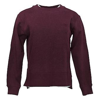 Kirkland Signature Women's Pullover Sweatshirt Fleece Crewneck Red