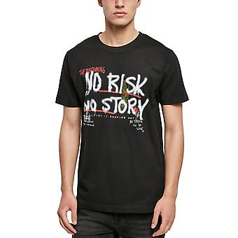 Mister Tee Graphic Shirt - NO RISK NO STORY Black