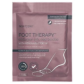Beauty Pro Foot Therapy Collagen Infused Bootie with removable toe 17 gr