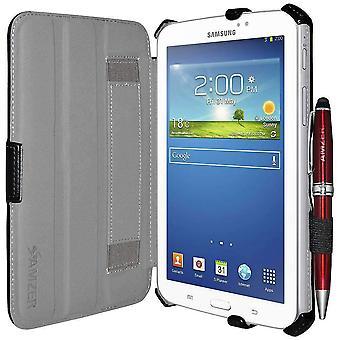 Amzer Shell portfólio puzdro kožené textúry pre Samsung Galaxy Tab 3