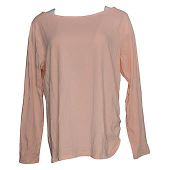 Anybody Women's Top Cozy Knit Boat Neck Pink A392533