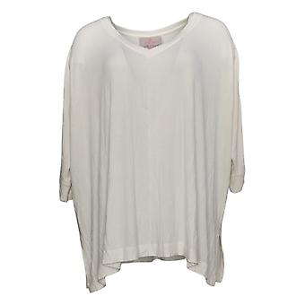 Laurie Felt Women's Top Fuse Modal Ribbed Knit Pullover White A392627