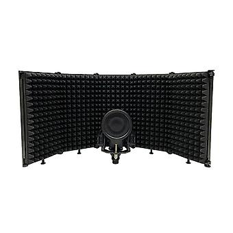 Adjustable 5 Panel Microphone Isolation Shield Vocal Booth