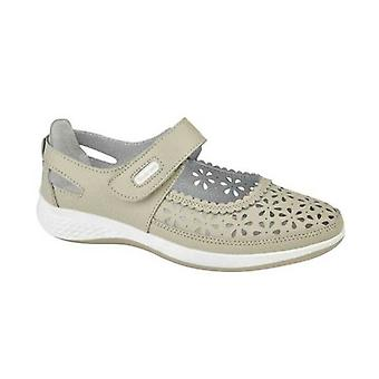 Boulevard Dorrit Ladies Action Leather Wide Fit Shoes Beige