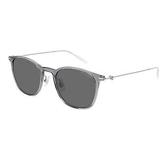 Montblanc MB0098S 005 Grey/Grey Sunglasses