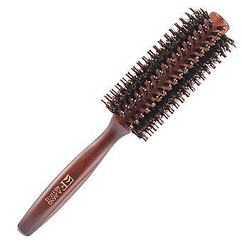FengChun Runde Haarbrste aus Holz, natrliche Wildschweinborsten, antistatische Haarbrste fr