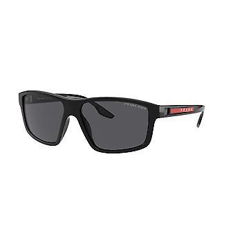 Prada Sport Linea Rossa SPS02X 1AB02G Schwarz/Polarisierte graue Sonnenbrille