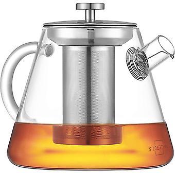 Wokex Teekanne mit Sieb - Glas - 1,5 Liter - Volles Teearoma durch langen Siebeinsatz