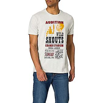 Springfield Camiseta Regular Poster T-Shirt, Multicolored, L Men's