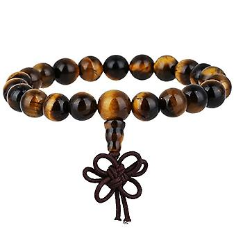 KYEYGWO 21 Mala bracelets with Chakra beads for men and women, unisex, with Reiki crystal stones, color: Ref eye stone. 0715444069284