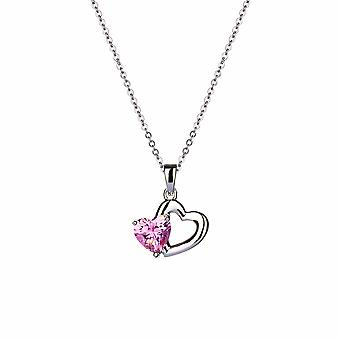 Avec Amour - Pendentif Sweet Heart Icons - Prolongateur 40cm +3cm - Argent - Cadeaux bijoux pour femmes de Lu Bella