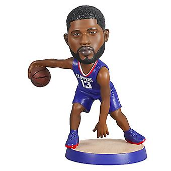 Paul George Action Figure Statue Bobblehead Basketball Doll Decoration