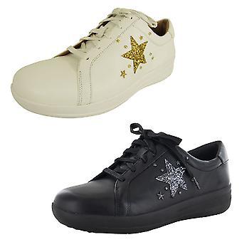 Fitflop Womens F-Sporty II Glitter Star Sneaker Shoes