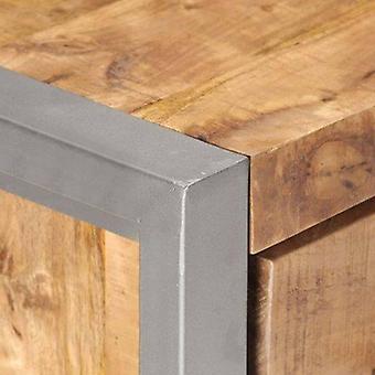 vidaXL Sideboard 60x35x72 cm Raues Mangoholz