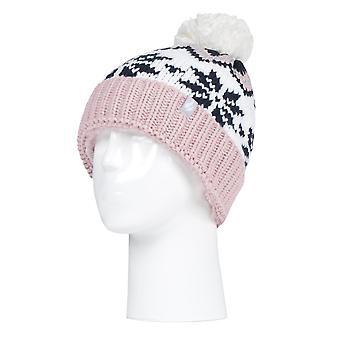 Värmehållare kvinnor snöflinga hatt med pom pom