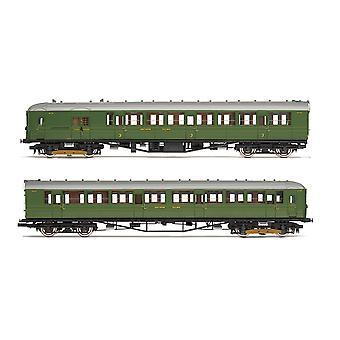 Hornby SR 2-BIL Unit 2152 DMBT(L) No. 10718 and DTC(L) No. 12185 Era 3 Model Train