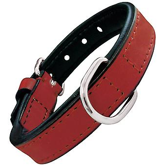 Gloria Pets Red Padded Leather Necklace (Dogs , Collars, Leads and Harnesses , Collars)