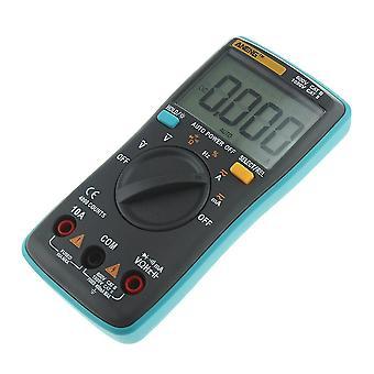 An8000 デジタルマルチメータバックライトアンメートル電圧計オームポータブルメーターアリゲータークリップジャンパーワイヤーテストリード(青)