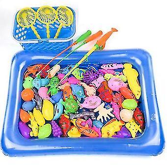 Magnetisk fiske pool leksaker spel för barn vattenbord badkar kiddie party leksak