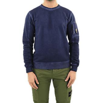 C.P.Company Sweatshirts - Crew Neck Blue 10CMSS197005398S882 Top