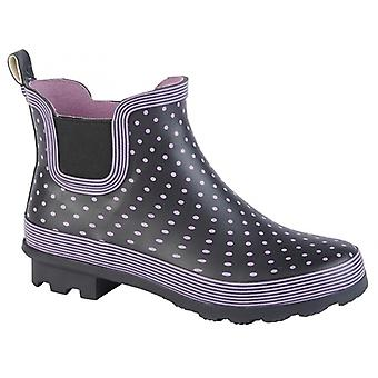 Stormwells W407m Ladies Rubber Ankle Wellington Boots Mauve