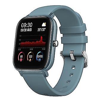الساعات الذكية p8 ساعة ذكية 1.4 بوصة لون شاشة تعمل باللمس معدل ضربات القلب رصد ipx7 سوار اللياقة البدنية للماء (الأزرق)