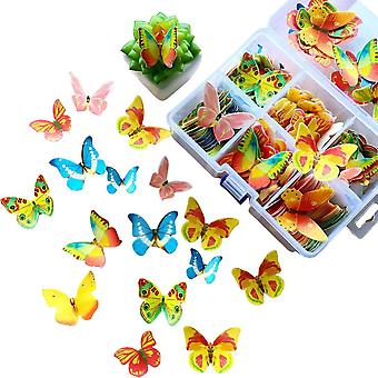 3 Different Size Edible Butterfly Cupcake Decoration Mixed Colour360pcs