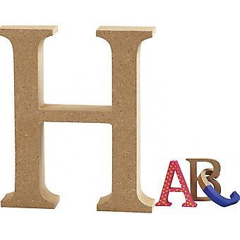 8cm Medium Wooden MDF Lettre Forme à décorer - H | Formes de bois pour l'artisanat