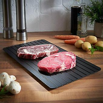 Defrosting Tray fast Thaw Aluminium Meat Board Quick Defrost Frozen Food Plate