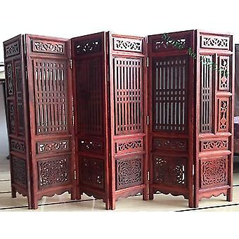 Room dividers 14.75 inch exquisite hand carved chinese boxwood sculpture folding screen