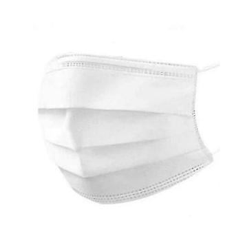 Kertakäyttöinen naamio valkoinen 3 kerrosta (2000kpl)