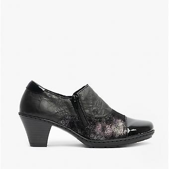 ريكر 57173 السيدات كتلة كعب أحذية سوداء