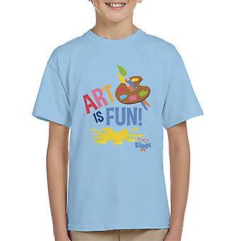 Blippi Art Is Fun Kid's T-Shirt