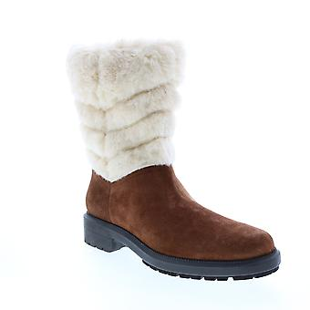 Aquatalia Adult Womens Lori Suede Faux Fur Knee High Boots
