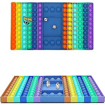 Fidget Speelgoed Silicone Rainbow Chess Board Bubble Toys Voor Ouder Kind