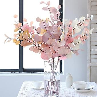 النباتات الزهور الأوكالبتوس الاصطناعي يترك طويلة البلاستيك القطب الحرير وهمية النباتات الجدار الزخرفية لحفل زفاف المنزل اطلاق النار دعامة